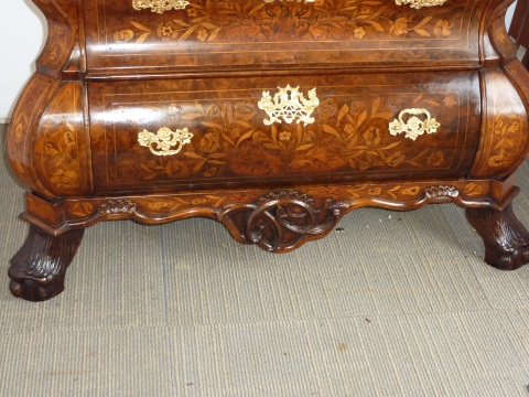 Dutch marquetry Bombay commode