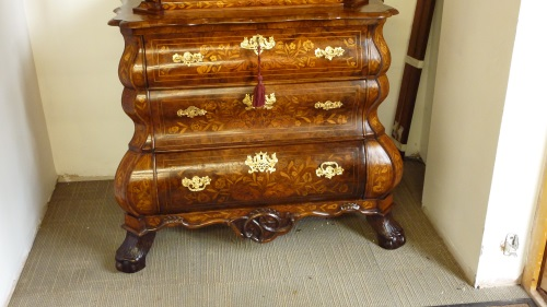 Dutch marquetry commode base