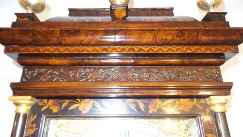 Dutch marquetry antique long case clock