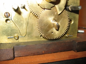 eight day long case clock movement with a date wheel made and fitted