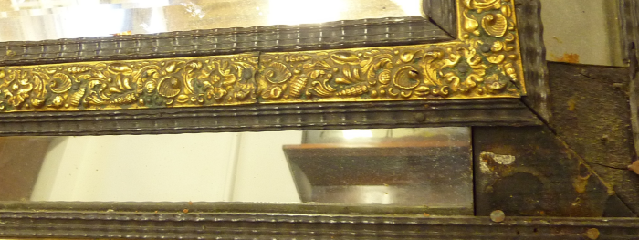 Exploded view of some of the brass work and moulding