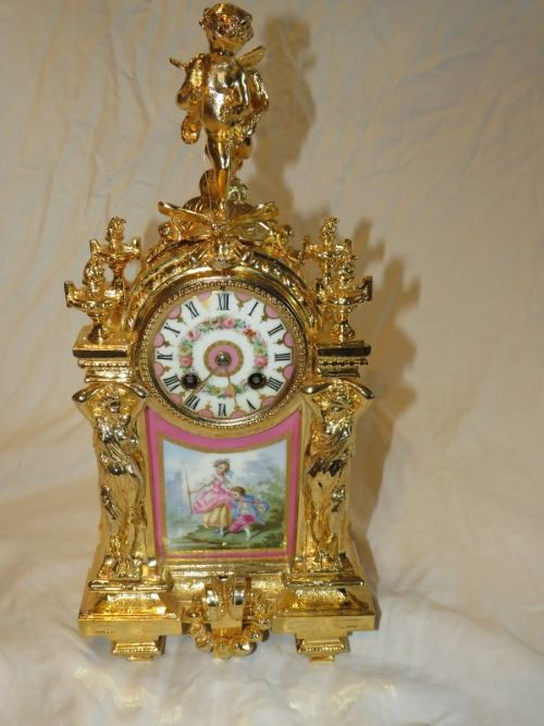 French clock read gilded