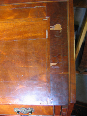 Georgian Bureau Damaged by neglect