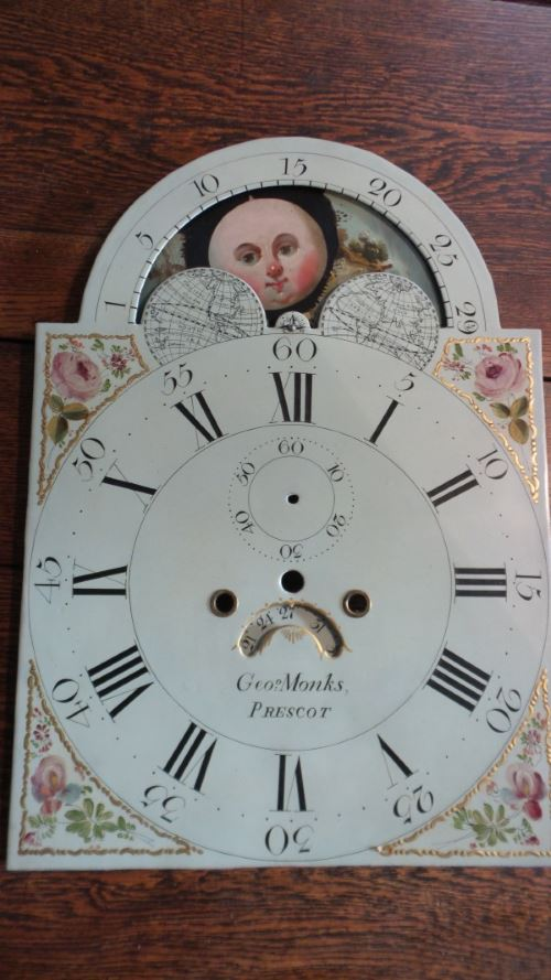 Painted dial after restoration