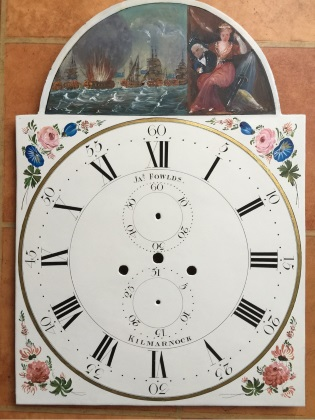 Damage dial after restoration painted in the naive style