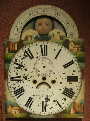 Antique Grandfather Clock Faces Longcase clock dial before