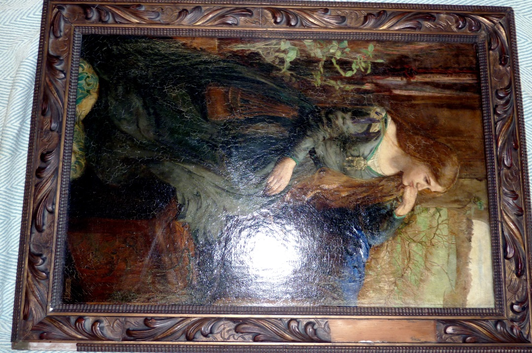 Rosetti period painting with frame damaged