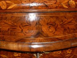 Dutch marquetry Bombay commode bookcase restore
