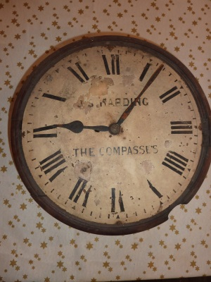 Worn and dusty dial clock