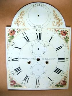 eight day clock dial after restoration