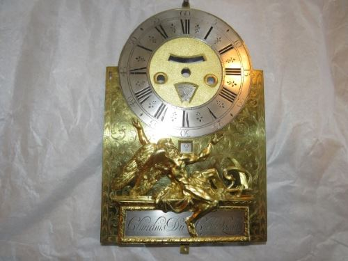 French clock dial restoration