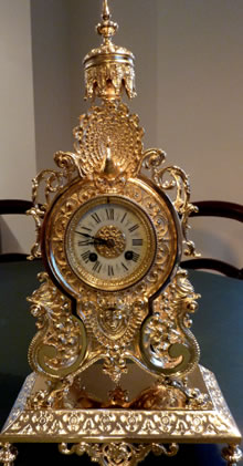 gilded clock after restoration