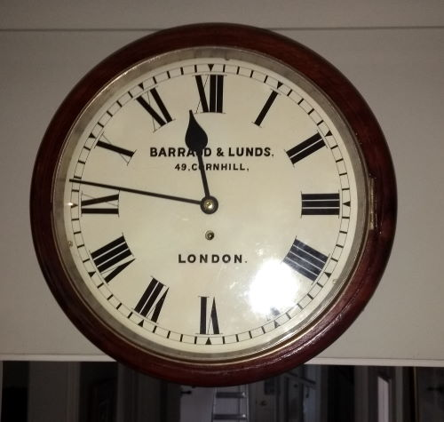Fusee wall clock repaired and painted