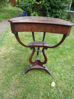 Ladies work table before restoration