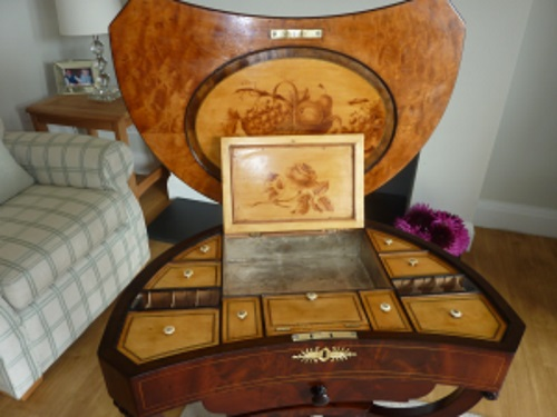 Very fine Sheraton ladies work Cabinet