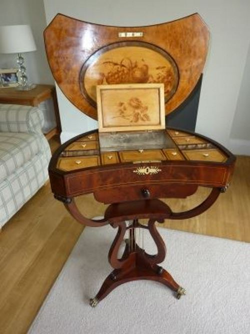 A well restored ladies work Cabinet