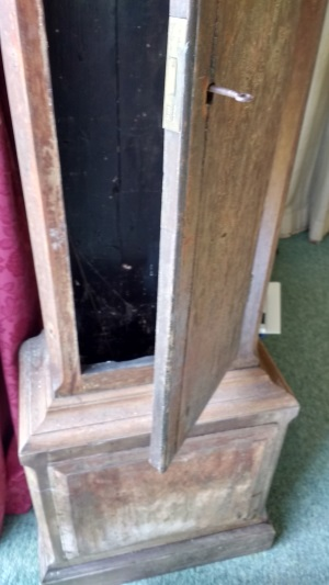 Grandfather clock trunk and base
