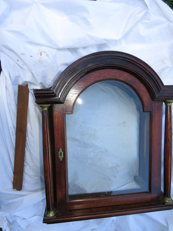 Long case clock hood after restoration