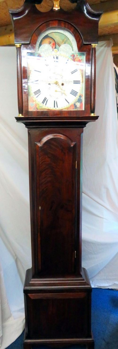 Long case clock restored