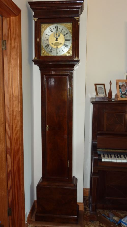 The same clock after restoration using contemporary materials