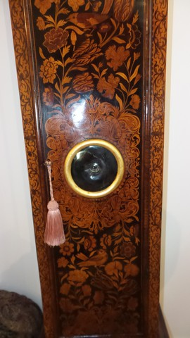 Dutch Marquetry clock trunk with bullseye